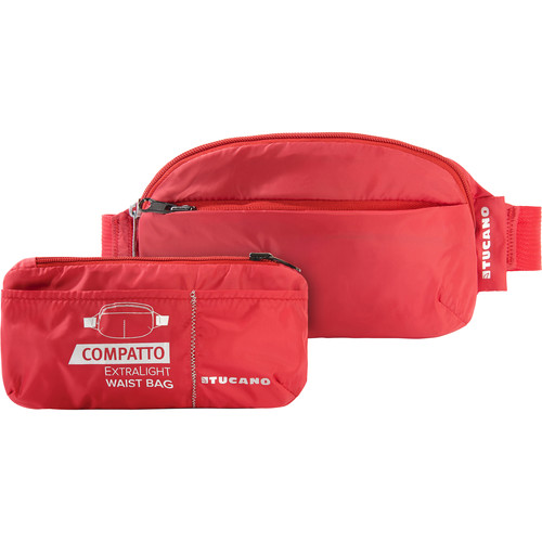 Tucano Extra-Light 1L Water-Resistant Packable Waistbag (Red)