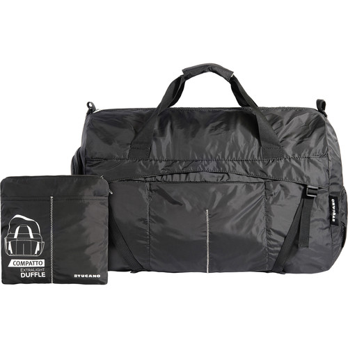 Tucano Compatto XL Water-Resistant 45L Duffle Bag (Black)
