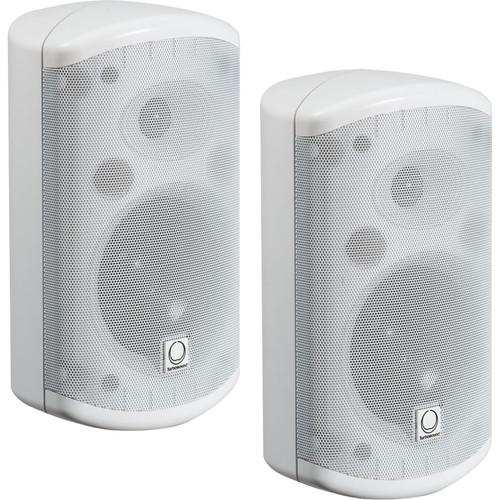 "Turbosound Impact 2-Way 5"" Full-Range Loudspeaker with Line Transformers (Pair, White)"