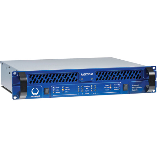 Turbosound RACKDP-50 4-Channel Amplifier with DSP & Networking (2 RU)