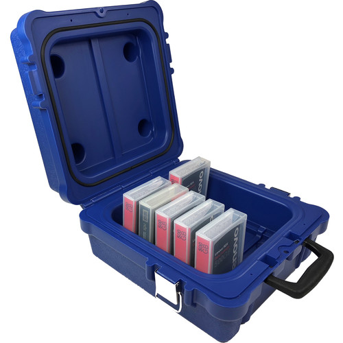 Turtle Waterproof Case for Ten LTO/DLT/RDX Cartridges with Foam Insert (Blue)