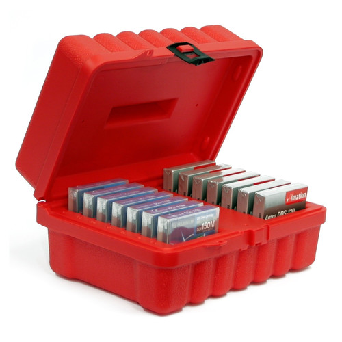 Turtle Double Walled Case for 14 4mm Tapes (Red)