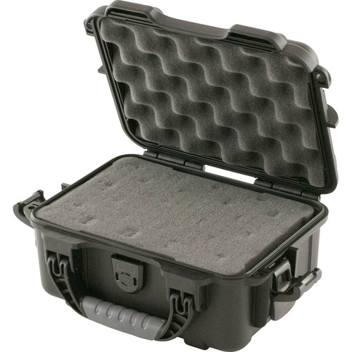 Turtle 504 ATA-Certified Waterproof Customizable Hard Case with Cubed Foam Insert (Black)