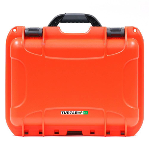 Turtle 504 ATA-Certified Waterproof Customizable Hard Case with Cubed Foam Insert (Orange)
