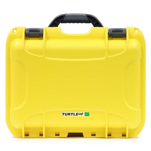 Turtle 504 ATA-Certified Waterproof Customizable Hard Case with Cubed Foam Insert (Yellow)