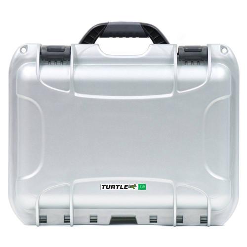 Turtle 504 ATA-Certified Waterproof Customizable Hard Case with Cubed Foam Insert (Silver)