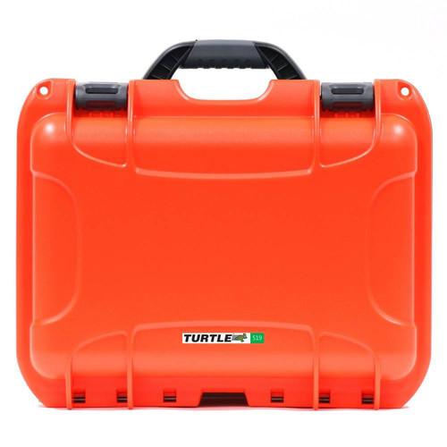 Turtle 519 ATA-Certified Waterproof Customizable Hard Case with Cubed Foam Insert (Orange)
