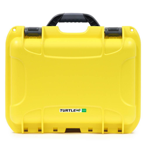 Turtle 519 ATA-Certified Waterproof Customizable Hard Case with Cubed Foam Insert (Yellow)