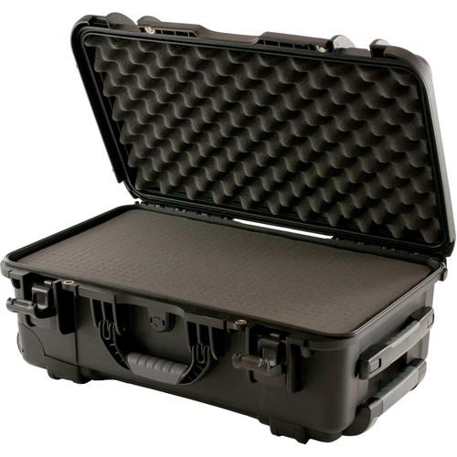 Turtle W735 Wheeled Waterproof Customizable Hard Case with Cubed Foam Insert (Black)