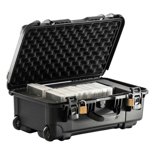 Turtle Heavy-Duty Waterproof Wheeled Case with Foam Insert for 28 LTO / DLT Tape Cartridges