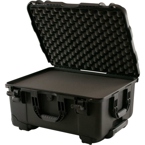 Turtle W750 Wheeled Waterproof Customizable Hard Case with Cubed Foam Insert (Black)