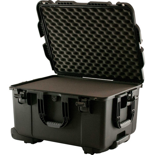 Turtle W760 Wheeled Waterproof Customizable Hard Case with Cubed Foam Insert (Black)
