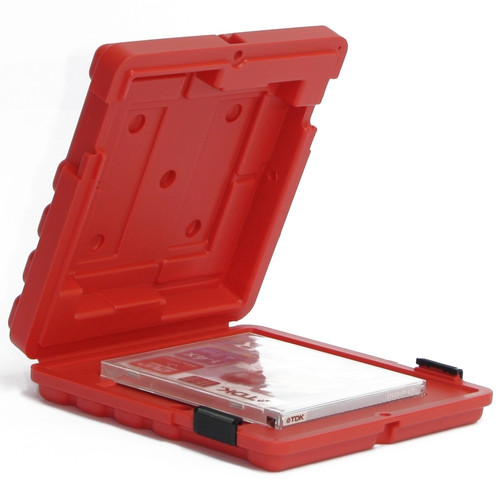Turtle Mailer Case for One LTO or DLT Size Tape (Red)