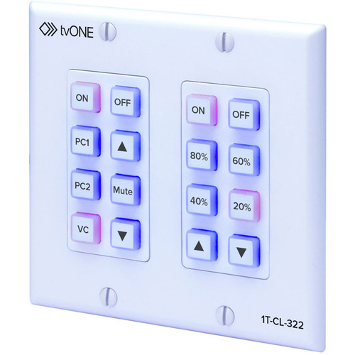 TV One North American 2-Gang Wall Plate Control Panel