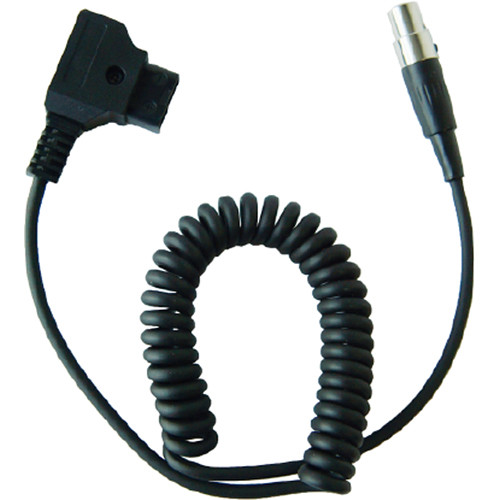 """TVLogic D-Tap to Mini-XLR Power Coiled Cable for VFM Monitors (Expands to 29"""")"""