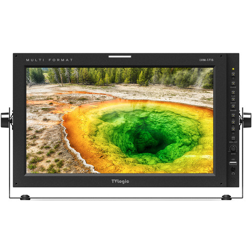 "TVLogic 16.5""1920x1080(True 10 Bit)QC-Grade Super-IPS LCD Monitor,2x3G/HD/SD-SDI Inps & Out, DVI-I & HDMI In"