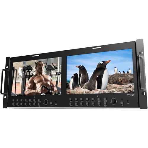 "TVLogic RKM-290A Dual 9"" HD/SD Multichannel LCD Rack Monitor"