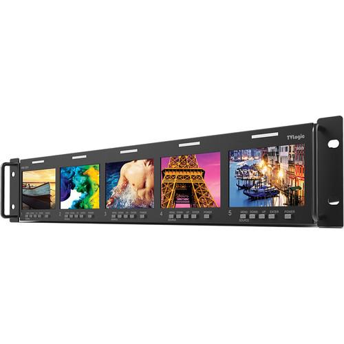 "TVLogic 3.5"" x 5-LCD 3G-SDI Multichannel Rackmount Monitor (2 RU)"