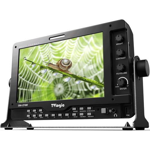 "TVLogic SRM-074W-N 7"" Sunlight-Readable 1024 x 600 HD LCD Monitor"