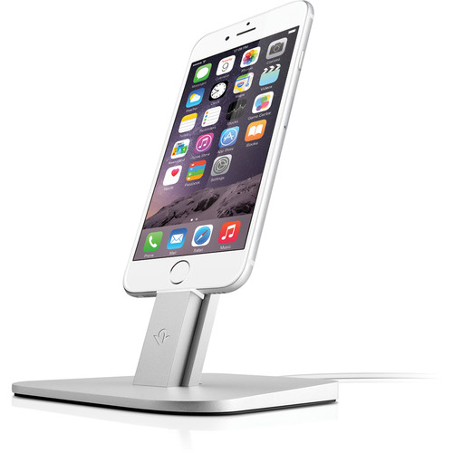 Twelve South HiRise Stand for iPhone, iPad mini, & Apple Siri Remote (Silver)