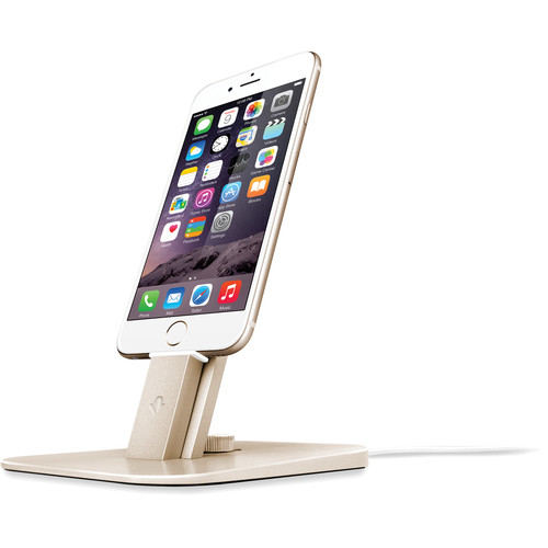 Twelve South HiRise Deluxe for iPhone, iPad, & Apple Siri Remote (Gold)