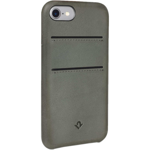 Twelve South Relaxed Leather Case with Pockets for iPhone 7 (Dried Herb)