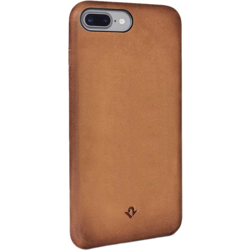 Twelve South Relaxed Leather Case for iPhone 6 Plus/6s Plus/7 Plus/8 Plus (Cognac)