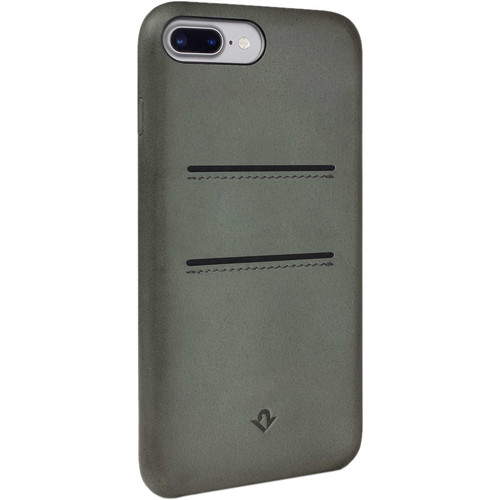 Twelve South Relaxed Leather Case with Pockets for iPhone 7 Plus/8 Plus (Dried Herb)