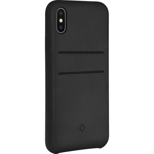 Twelve South Relaxed Leather Case with Pockets for iPhone X/Xs (Black)