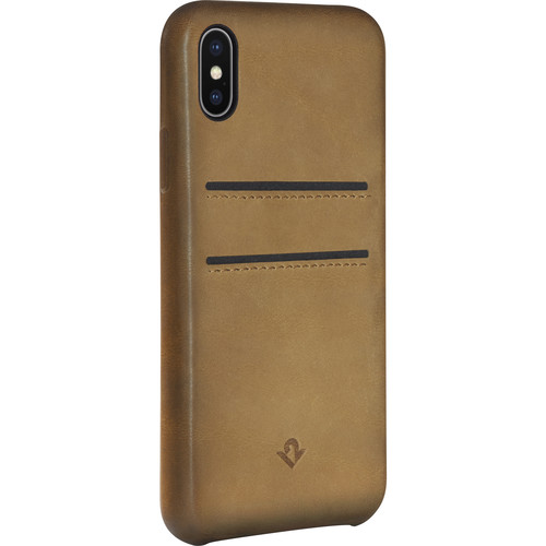 Twelve South Relaxed Leather Case with Pockets for iPhone X (Cognac)