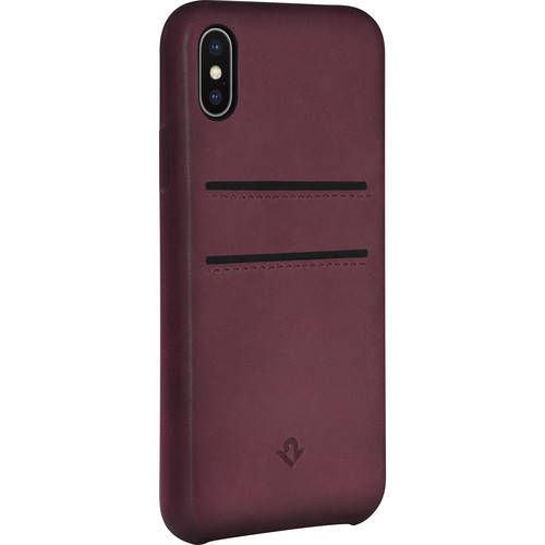 Twelve South Relaxed Leather Case with Pockets for iPhone X (Marsala)