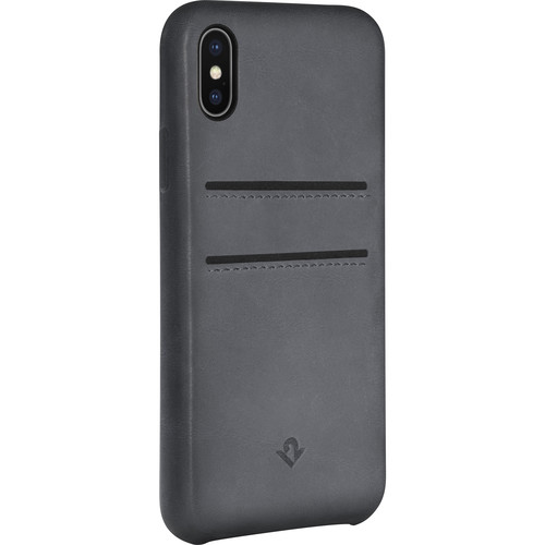 Twelve South Relaxed Leather Case with Pockets for iPhone X (Earl Grey)