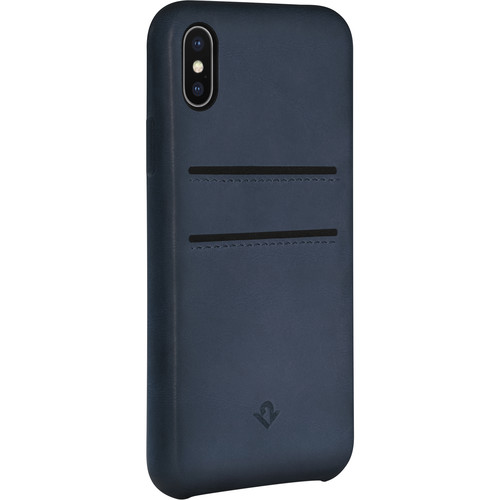 Twelve South Relaxed Leather Case with Pockets for iPhone X/Xs (Indigo)