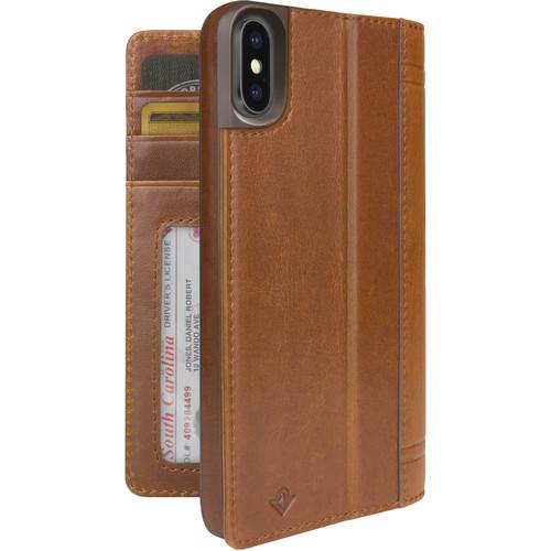 Twelve South Journal Case for iPhone X/Xs (Cognac)