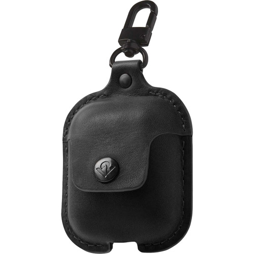 Twelve South AirSnap Leather Road Case for AirPods (Black)
