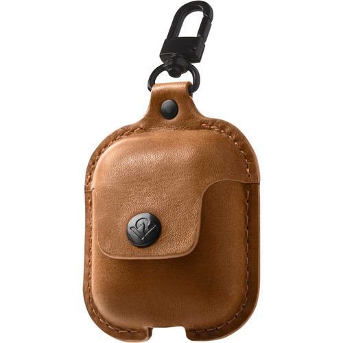 Twelve South AirSnap Leather Road Case for AirPods (Cognac)