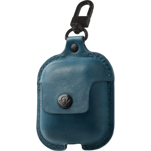 Twelve South AirSnap Leather Road Case for AirPods (Teal)