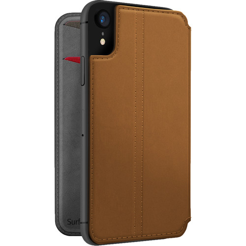 Twelve South SurfacePad Leather Cover for iPhone XR (Cognac)