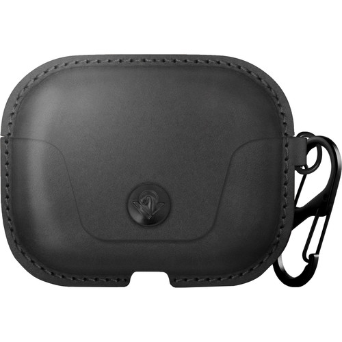 Twelve South AirSnap Pro Leather Road Case for AirPods Pro (Black)