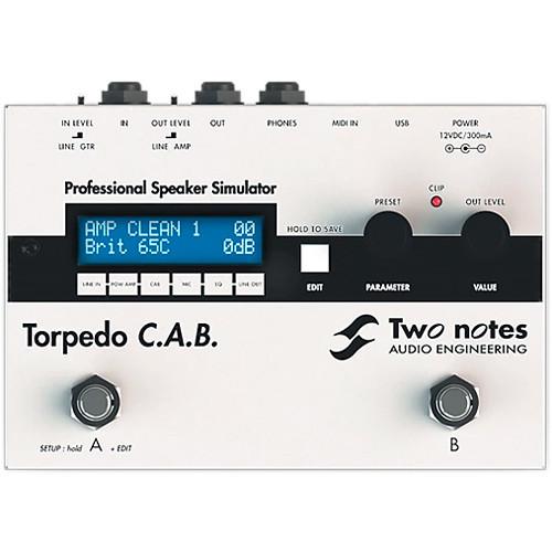 Two Notes Torpedo C.A.B. Digital Impulse-Response Loading Stompbox