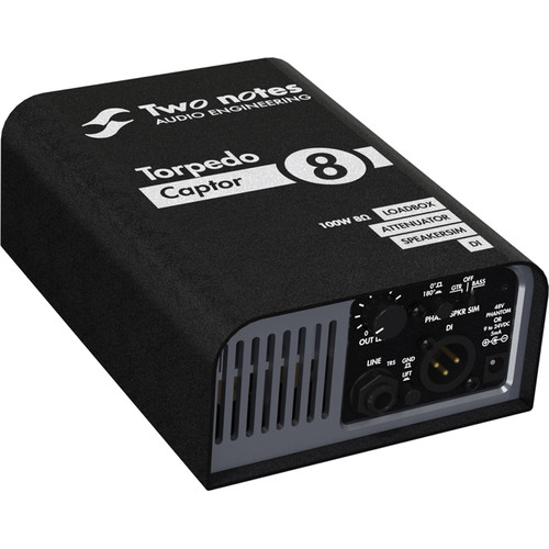 Two Notes Torpedo Captor Loadbox and Amplifier DI (8 Ohms)