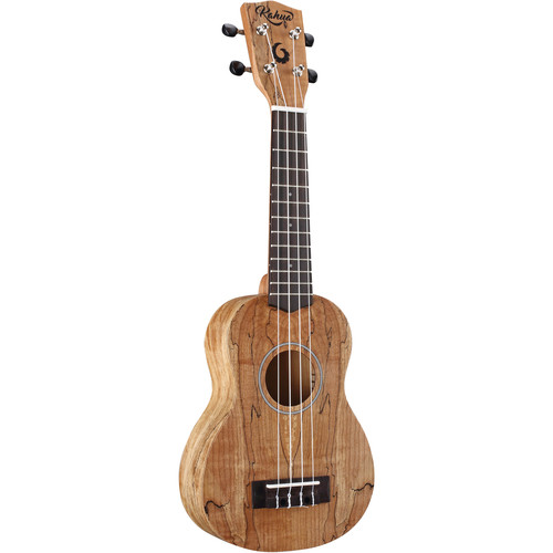 "Kohala Tycoon Series 21"" Spalted Maple Soprano Ukulele (Matte Finish)"