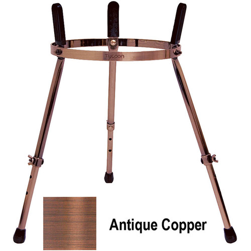 "Tycoon Percussion Height Adjustable Metal Stand for Conga (23 to 30"", Antique Copper)"