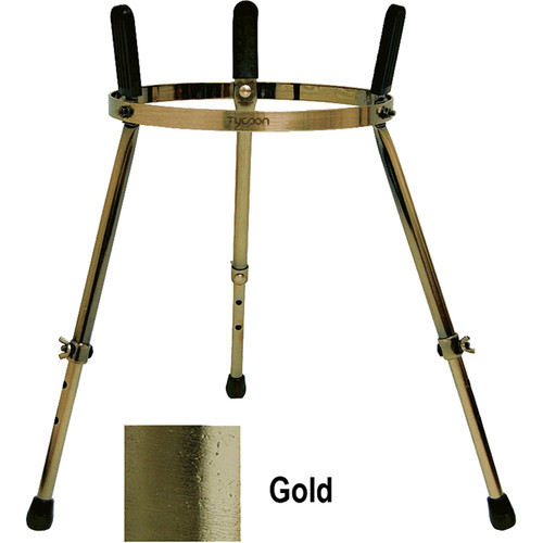 "Tycoon Percussion Height Adjustable Metal Stand for Tumba (23 to 30"", Gold)"