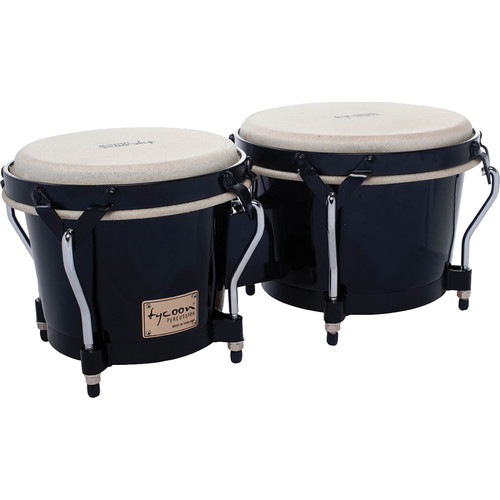 "Tycoon Percussion 7"" & 8.5"" Supremo Series Bongo Set (Black)"