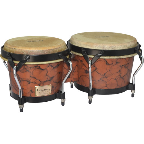 "Tycoon Percussion 7"" & 8.5"" Supremo Series Bongo Set (Marble)"