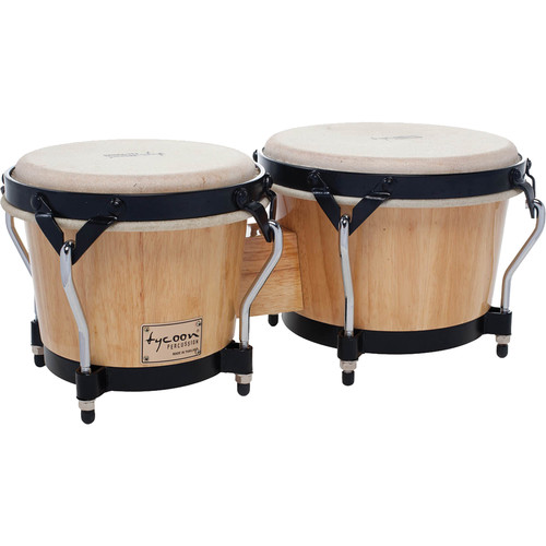 "Tycoon Percussion 7"" & 8.5"" Supremo Series Bongo Set (Natural)"