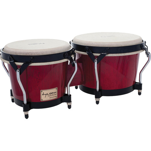 "Tycoon Percussion 7"" & 8.5"" Supremo Series Bongo Set (Red)"