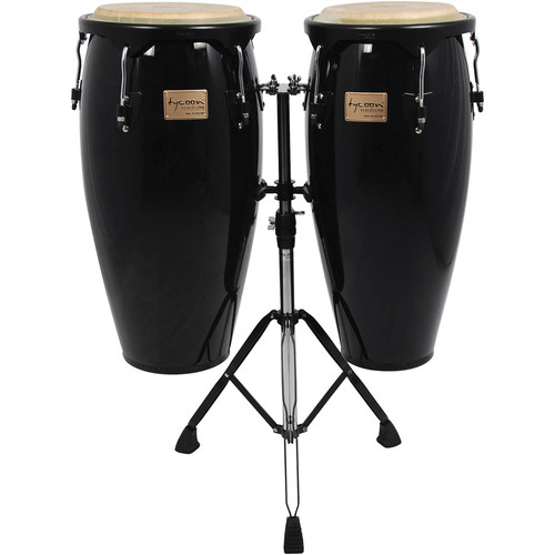 "Tycoon Percussion 10"" & 11"" Supremo Series Congas (Black)"