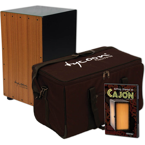 Tycoon Percussion Cajon Starter Pack with DVD and Bag